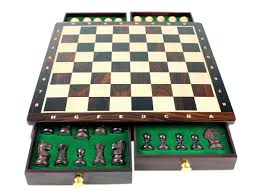 Chess Set Magnetic Chess Set Pieces Rose Wood Galaxy Staunton King Size 3
