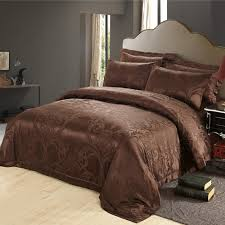 Silk Duvet Sale Pure Mulberry Silk Bedding Sets Chocolate For Sale