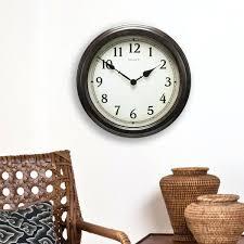 Decorative Metal Wall Clocks Large Black Wall Clock U2013 Worldslargestcruisenight Com