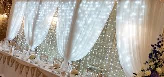 wedding backdrop fairy lights fairy light backdrop room draping entrance drapes window drapes