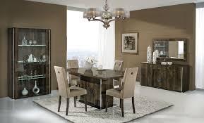 italian walnut high gloss dining room furniture set homegenies