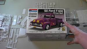 Old Ford Truck Kit Car - monogram 55 ford f 100 first impressions youtube