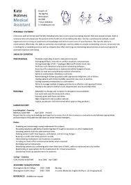 sample resumes for medical assistant sample resumes medical