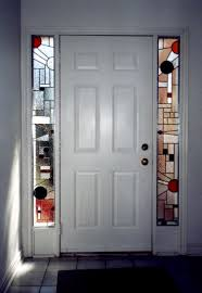 Stained Glass Door Panels by Stained Glass In The Entrance