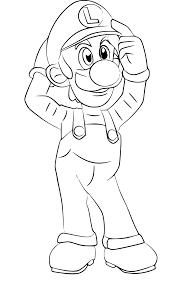 Coloriage Luigi Super Smash Bros à imprimer