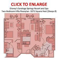 disneys saratoga springs two bedroom villa floorplan resort disney