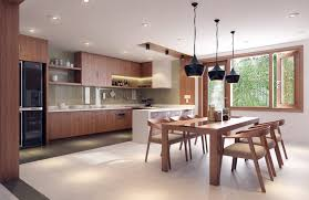 kitchen interior design close nature rich themes and