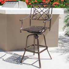 Patio Furniture Manufacturers by Furniture Outdoor Cast Aluminum Swivel Bar Stool Patio Furniture