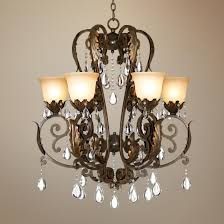 valentina iron leaf collection six light chandelier dining room