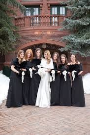 fur shawls for bridesmaids brides bridesmaids photos black bridesmaid dresses with fur
