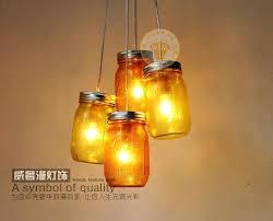 Glass Jar Pendant Light Art Glass Pendant Lights New Modern Yellow Mason Jar Pendant Light