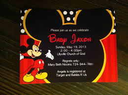 mickey mouse baby shower invitations by putting mesmerizing free