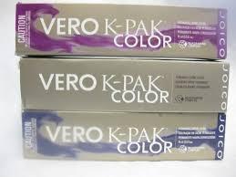 joico vero k pak color permanent hair color b series 2 5 oz nib