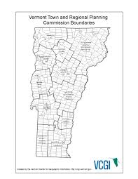 Black And White Map Static Maps Vermont Center For Geographic Information