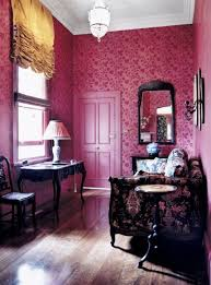 Floral Interiors Deep Pink And Floral Interiors By Color