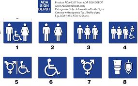 Bathroom Symbols Restroom Symbol Signs U2013 Information Guide Ada Signs Adasigndepot Com