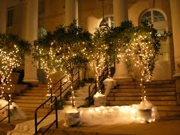 Fairy Lights In Trees by I Want My Boring Ugly Venue To Look Amazing Help Wedding