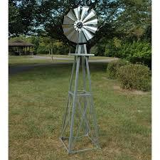 decorative 8 ft galvanized windmill black tips walmart
