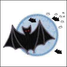 small bat go small bat moon embroidery designs by v stitch designs