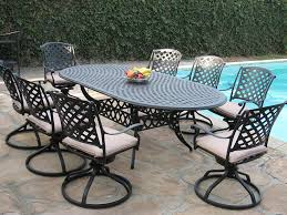 Swivel Outdoor Patio Chairs by Amazon Com Cast Aluminum Outdoor Patio Furniture 9 Piece
