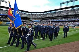 Coors Field Map Service Members Participate In Colorado Rockies Opening Day