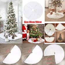 90cm plush snow flake tree skirt base floor mat