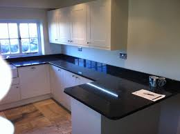 granite countertop high gloss black kitchen worktops glass