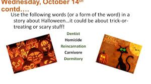 monday october 12 th write the definitions below in your notes