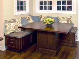 kitchen and dining chair corner kitchen table with storage bench in