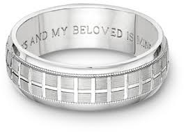 bible verse rings tuscan cross bible verse wedding band ring