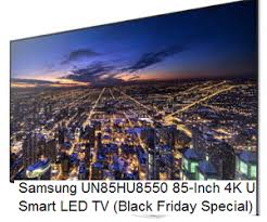 amazon black friday 4k samsung un85hu8550 85 inch 4k ultra hd 120hz 3d smart led tv deal