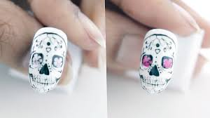 halloween transforming skull candy gel nails youtube