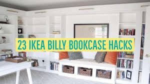 ikea shelf hack 23 ikea billy bookcase hacks youtube