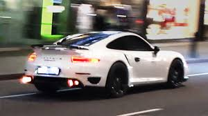 porsche 911 turbo sound 900hp porsche 991 turbo s mad sounds and flames