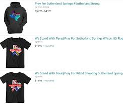 pray for sutherland springs u0027 merchandise already for sale on