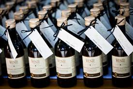 wine bottle favors wedding wednesday custom wedding favors how s married