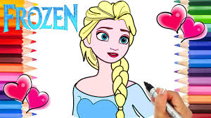 frozen elsa coloring page frozen coloring book draw and color