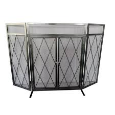 Fireplace Metal Screen by Geometric Single Panel Fireplace Screen Tn 891262 The Home Depot