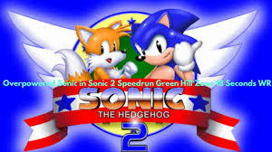 sonic 2 guide overpowered sonic 2 speedrun green hill zone 14 seconds wr youtube