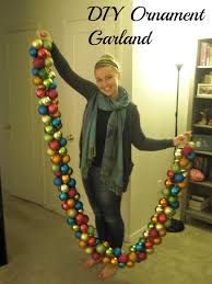 diy holiday ornament garland possible use for all the big ball