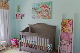 Warwick Bedroom Set Jcpenney Baby P U0027s Cheerful Aqua Pink And Green Nursery Project Nursery