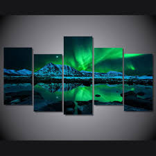 art painting for home decoration aurora borealis painting canvas painting for your home decoration