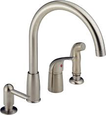 Kitchen Faucet With Soap Dispenser Peerless P188900lf Sssd Apex Single Handle Widespread Kitchen