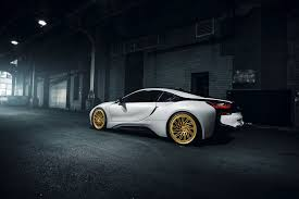 bmw i8 gold bmw i8 wallpapers pictures images