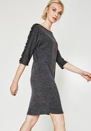 milano jersey dress black print women dresses promod