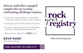 bed bath bridal registry rock your registry rock your registry bed bath beyond