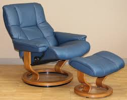 Leather Reclining Chairs Stressless Kensington Large Mayfair Paloma Oxford Blue Leather
