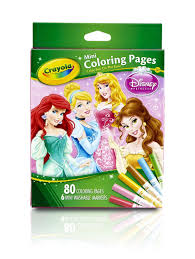 amazon com crayola crayola mini coloring pages disney princess