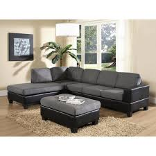 suede sectional sofas venetian worldwide dallin gray microfiber sectional mfs0003 l
