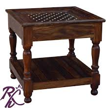 buy brass lamp side table without top glass online in india